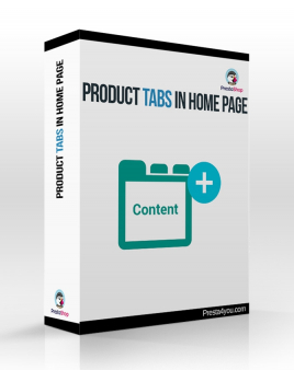 Product tabs in home page